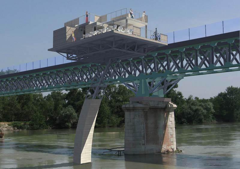 realizzazione punto panoramico su fiume po