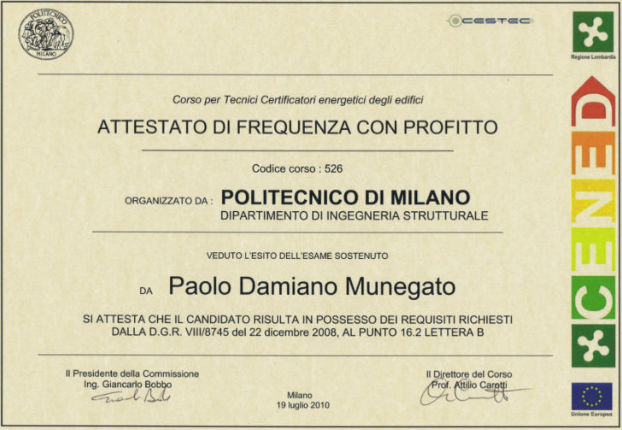 certificato cened