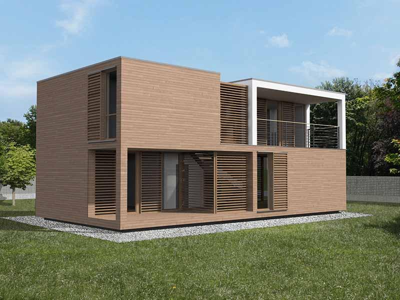 Progettazione Casa In Legno : Progettazione case in legno modulari cubo studio di architettura
