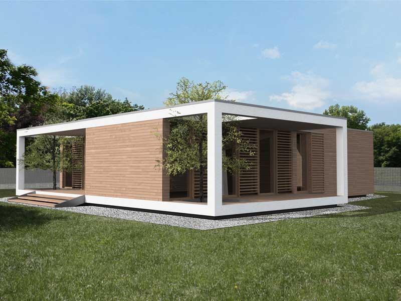 Progettazione case in legno modulari cubo studio di for Case di legno rumene